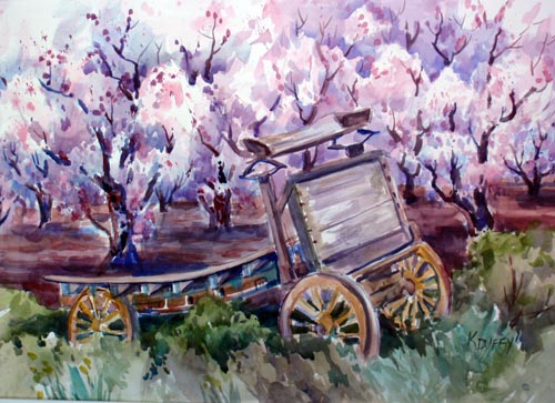 Sunnyvale Apricots with Old Wagon