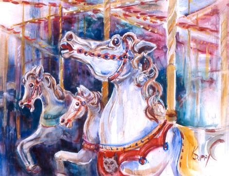 Los Gatos Carousel Horses