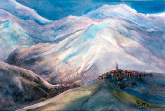 Mt Blanc at Dusk