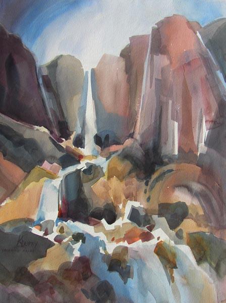 Yosemite Falls Impression