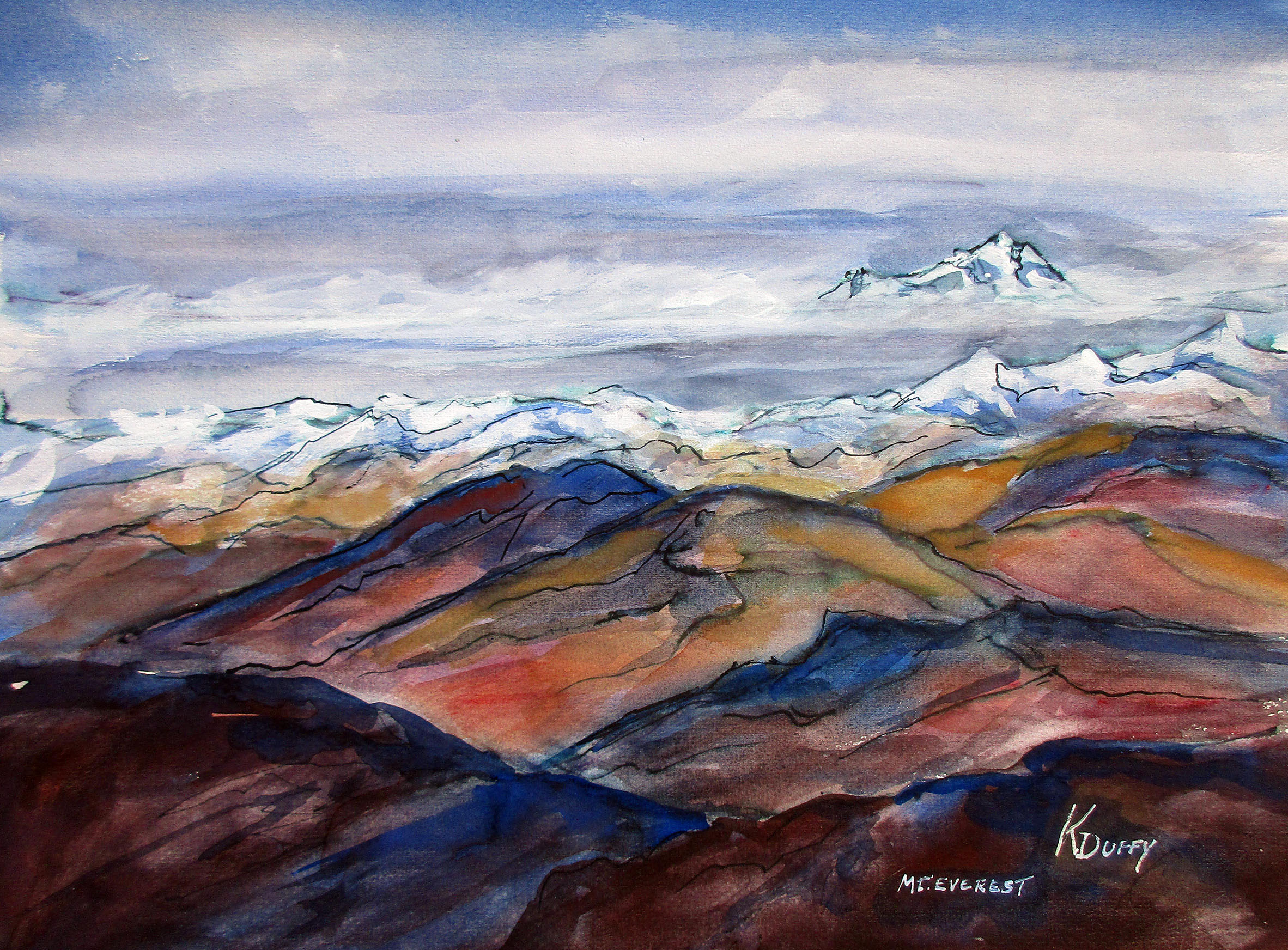 Mt. Everest Peeks Out
